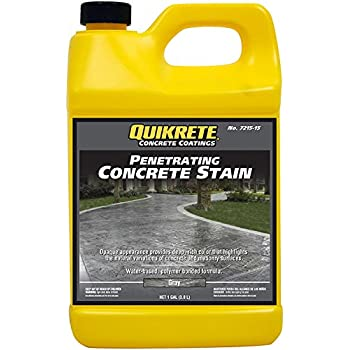 Quikrete Penetrating Concrete Stain Gray Gal Amazon Com