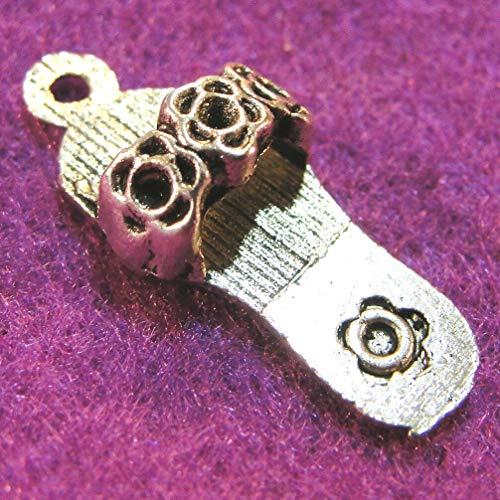 10Pcs. Tibetan Silver FLIP Flop Shoe Sandal Charms Pendants Earring Drops PR177