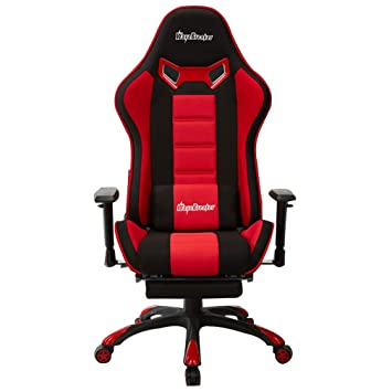 aoeiuv E-Sports Gaming Chair Silla de Oficina ergonómica giratoria Respaldo Alto Ajustable Heavy Duty Computer Computer Chair PU Recliner de Cuero,Red,B: ...