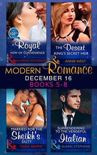 book cover of Modern Romance December 2016 Books 5-8