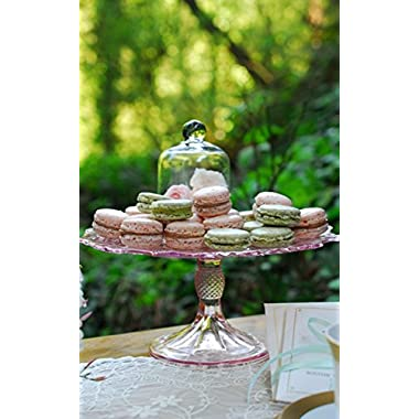 Retro Pink Depression Cake Stand: Weddings - Homes - Bakeries
