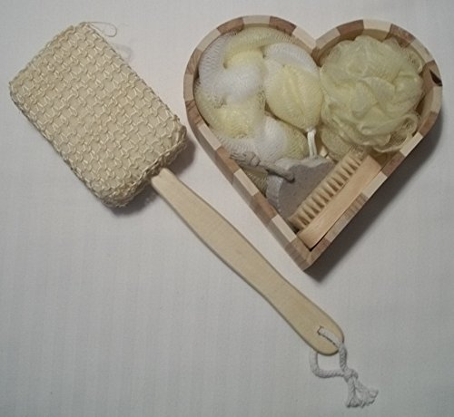 Lots of Love 5 Piece Bath Set with Heart Shaped Box
