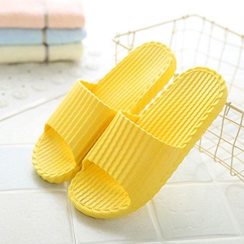 YMFIE punta ciabatte e letto antislittamento traspirante da bagno da camera yellow Uomini piscina da calzature scarpe letto camera piano silent vZ7zvPqwYr