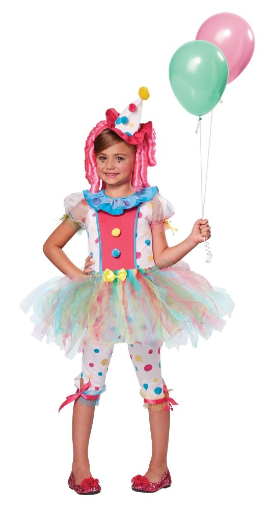 California Costumes Kaleidoscope Klown Costume, One Color, 8-10 462