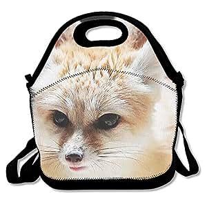 Ligero Gourmet bolsa para el almuerzo Fox 3d impresión caja de almuerzo bolso para niños y adultos