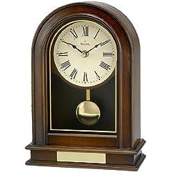 Bulova B7467 Hardwick Clock, Walnut Finish