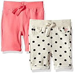 Limited Too Toddler Girls\' 2 Pack Clean Front Knit Bermuda Shorts, Multi Print, 4T