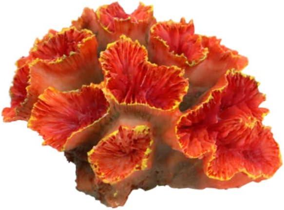 "Danmu 1Pc of Polyresin Coral Ornament, Aquarium Coral Decor 3 1/10"" x 2 1/3"" x 1 9/10"" for Fish Tank Aquarium Decoration"
