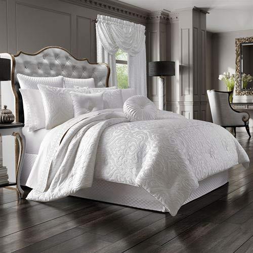 J Queen New York, Inc. Astoria Damask Scroll Comforter Set Off White