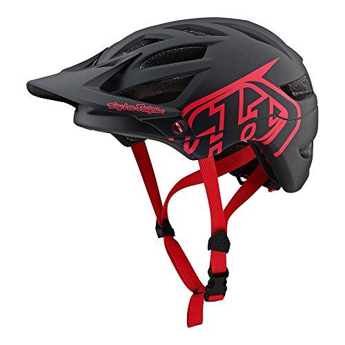 Troy Lee Designs Adult | Trail | Enduro | Half Shell A1 Drone Mountain Biking Helmet (X-Large/XX-Large, Black/Red)