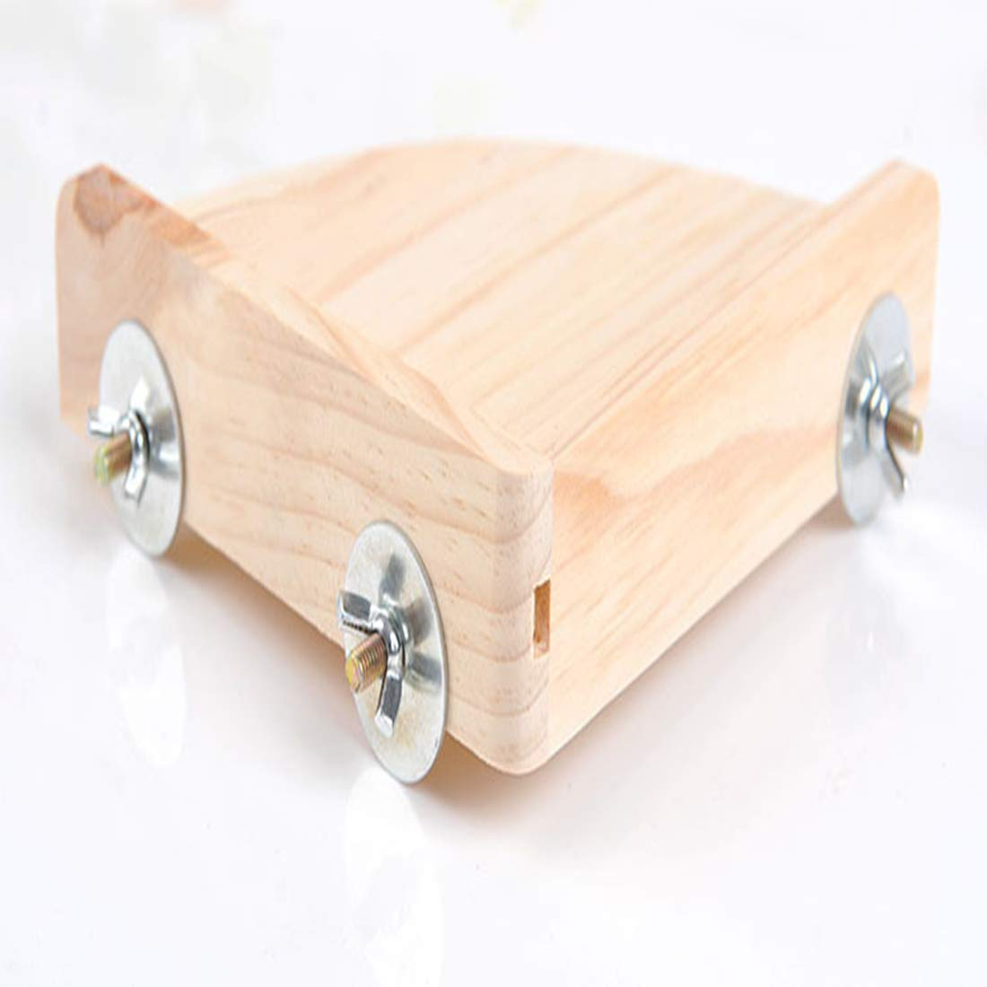 MQUPIN Natural Wood Platform Stand Wood for Small Animals Parrot Parakeet Gerbil Rat Mouse Hamster Cage Accessories Exercise Toys Sector