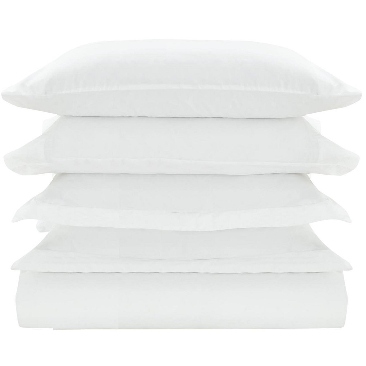 Mellanni Duvet Cover Set White - Double Brushed Microfiber 1800 Bedding Collection with Extra Pillowcase - Wrinkle, Fade, Stain Resistant - Hypoallergenic - 3 Piece (Twin/Twin XL, White)