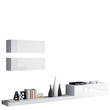 Wohnwand Pixel VII, Modernes Wohnzimmer, Anbauwand, Fernsehschrank, Design  Mediawand, Hängeschrank,
