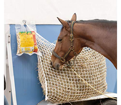 NEFTF Slow Feed Hay Net Bag Full Day Horse Feeding Large Feeder Bag with Small Holes