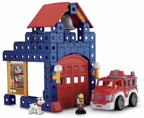 Amazon Fisher Price Trio Fire Station Set Toys Games