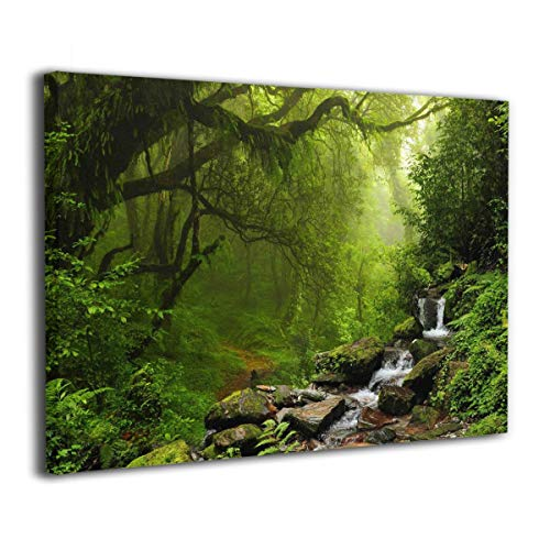 SRuhqu Canvas Wall Art Prints Forest Nepal -Picture Paintings Modern Decorative Giclee Artwork Wall Decor-Wood Frame Ready to Hang ()
