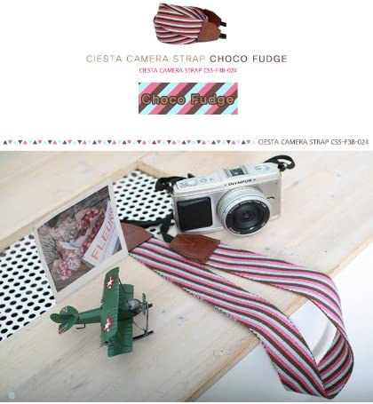 CIESTA Shoulder Neck Camera Strap for DSLR SLR RF Mirrorless Choco Fudge
