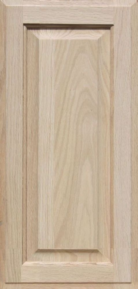Unfinished Oak Cabinet Door, Square with Raised Panel by Kendor 23H x 11W