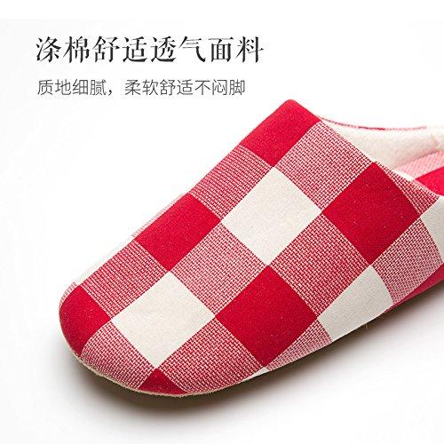 Inverno fankou giovane home Mao Mao caldo cotone pantofole una coppia di HL-3378,40 / 41 (per 39/40 cantieri di usura), marrone