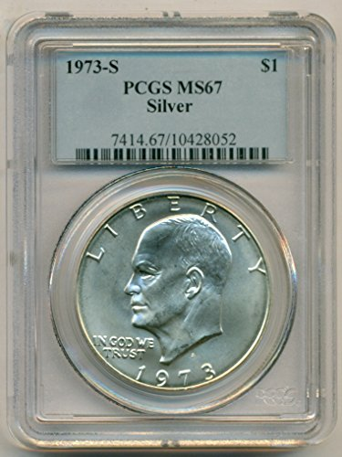 1973 S Eisenhower Silver Dollar MS67 PCGS