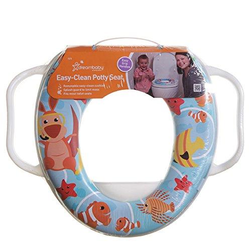 Dreambaby F678 Toiletbril voor kinderen, toiletbril voor kinderen, toiletbril, met handgrepen voor gemakkelijk…