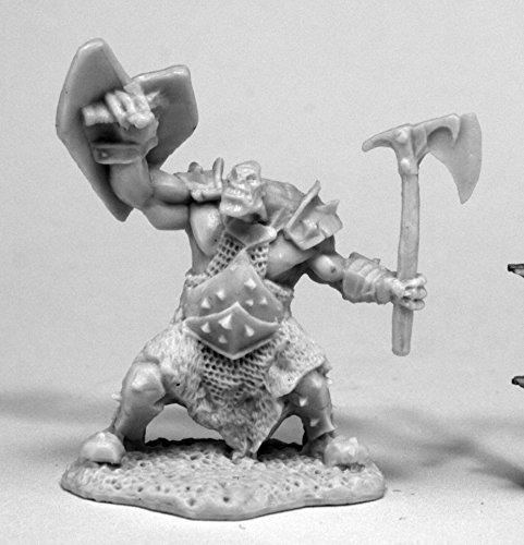 Reaper Miniatures 77430 Orc Slayer (Axe and Shield), Bones Miniature