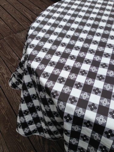Blue Hill, Black, Classic Tavern Check, Flannel Backed; 90
