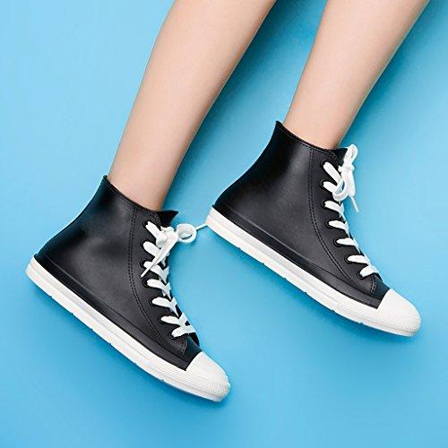 QYQyx Women's rain Boots, Anti-Slip Short Boots, Urban Lovers rain Boots, Casual rain Boots, Non-Slip Rubber Shoes A