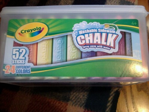 UPC 071662112028, Crayola Sidewalk Chalk 52ct. Bucket Crayon Shape