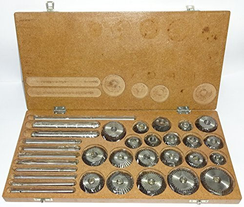 Valve Seat & Face Cutter Set / Kit - 21 Pcs Set for Vintage Cars & Bikes in Wooden Case by Indian Machine Tools