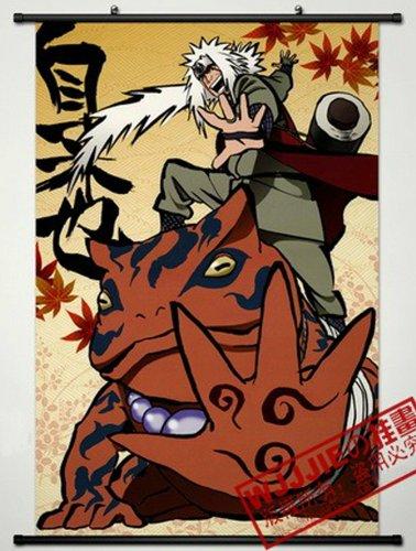 Home Decor Naruto Jiraiya Cosplay Wall Scroll Poster 35.4 X