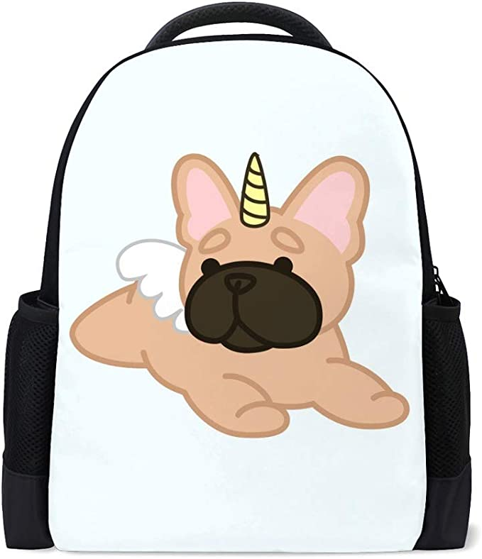 ZHONGJI Schoolbag Backpack Computer Bag Lightweight Durable Cute Animal White Background Student College Travel Work Business Camping Outdoor