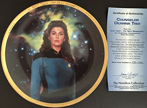 1993 Hamilton Star Trek Next Genertion Deanna Troi Collector Plate - Limited And Mint Condition