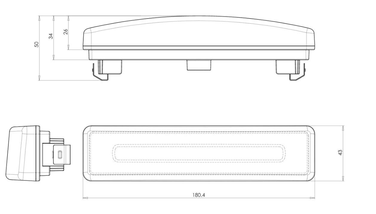 2 luces LED de posici/ón frontal de ne/ón naranja para techo de camarote para Scania 24 V
