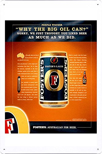 tin-sign-metal-poster-plate-8x12-of-fosters-lager-oil-can-by-food-beverage-decor-sign