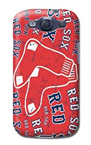 Samsung Galaxy S3 Protective Case - Impact Resistant Bumper, Mlb Baseball Boston Red Sox, Compatible With Samsung Galaxy S3
