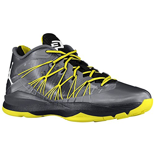 Jordan Kid's CP3.VII AE BG, DARK GREY/WHITE-BLACK-VIBRANT YELLOW, Youth  Size 6.5