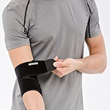 Bracoo Elbow Brace, Neoprene Sleeve, Adjustable Support