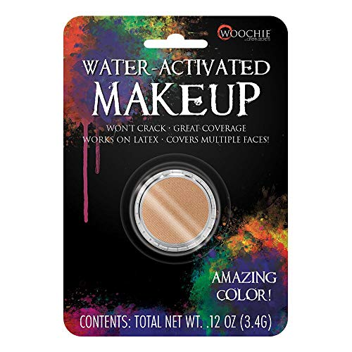 Woochie Water Activated Makeup - Professional Quality Halloween and Costume Makeup - (Medium Flesh, 0.1 oz)