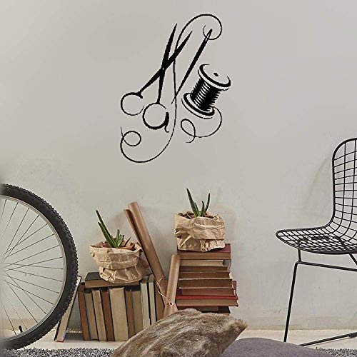 covolca Vinyl Decal Quote Art Wall Sticker Mirror Decal Tailoring Needle Thread Scissors Tailor - Tailor Tractor