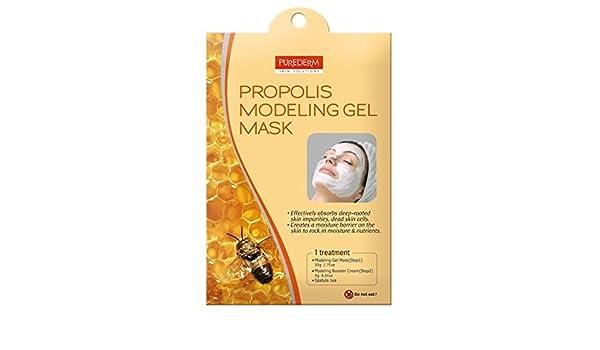 Amazon com : PUREDERM Propolis Modeling Gel Facial Mask ( 3