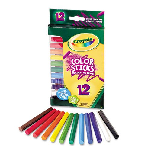 Crayola 682312 Woodless Color Pencils  Assorted  12 Pack