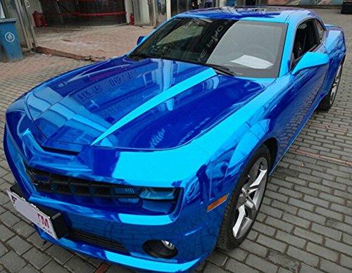 amazon com moyishi 12 x60 chrome mirror blue vinyl wrap sticker
