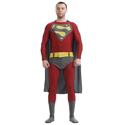 nihiug Superman Mono Traje de Halloween Traje de la Etapa ...
