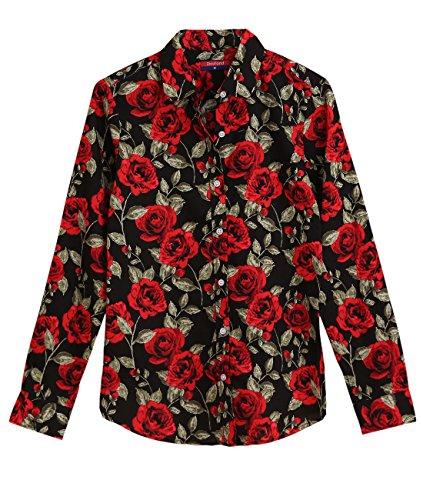 Dioufond - Camisas - para mujer BlackredFl