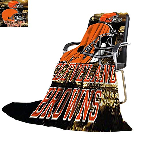 (Velvet Touch Ultra Plush,Cleveland Browns NFL Aggression Printed Fleece Throw Blanket 30