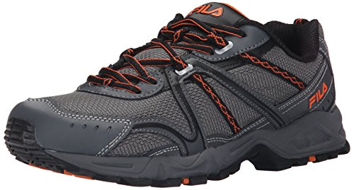 Dark Trail Vibrant Men's Ascent Orange 12 Silver Shoe Fila Running Castlerock tYAwHtq