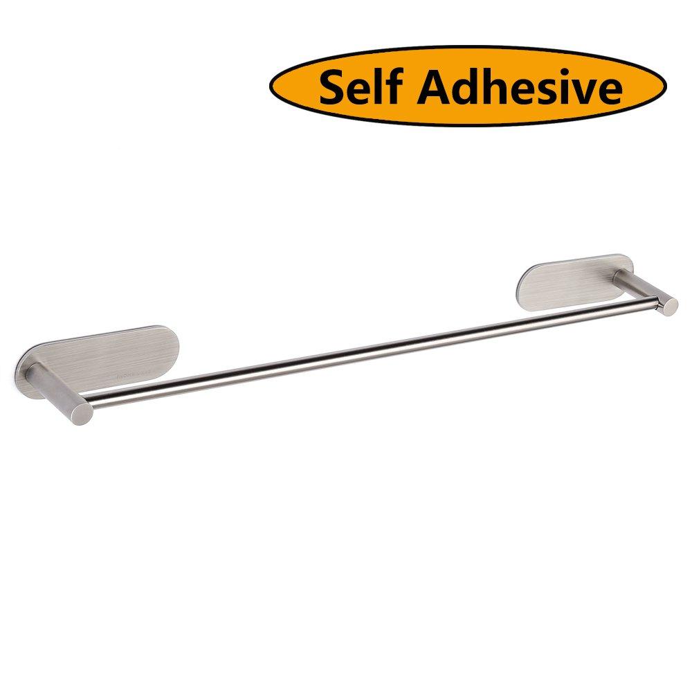 Amazon.com: HOMEIDEAS 3M Self Adhesive Towel Bar 15.6-Inch Towel ...