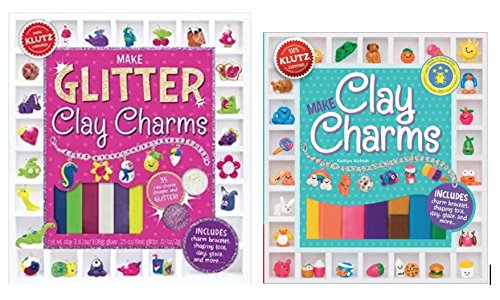 Make Clay Charms and  Make Glitter Clay Charms, Set of 2 Books / Kits by -