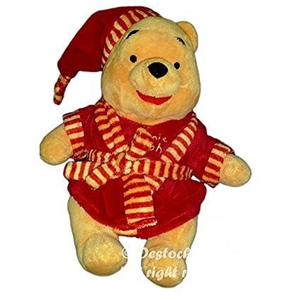 Peluche Doudou Winnie Disney Nicotoy albornoz vestido de cámara rojo 30 cm 587/5033